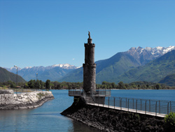 The lighthouse of Gera Lario